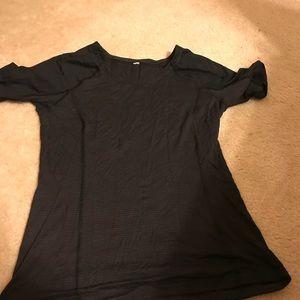 Lululemon black running T-shirt